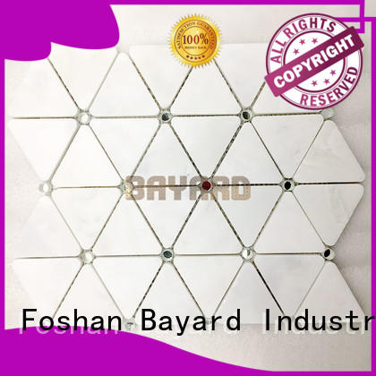 low cost marble mosaic tile sheets owner for bathroom