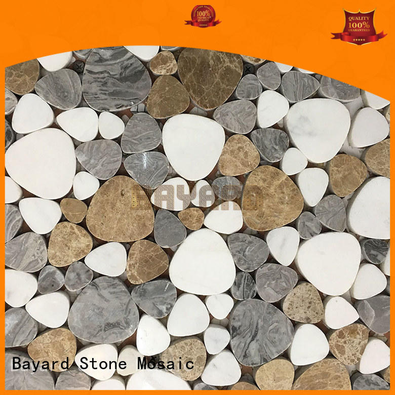 white mosaic stones in china for wall decoration Bayard