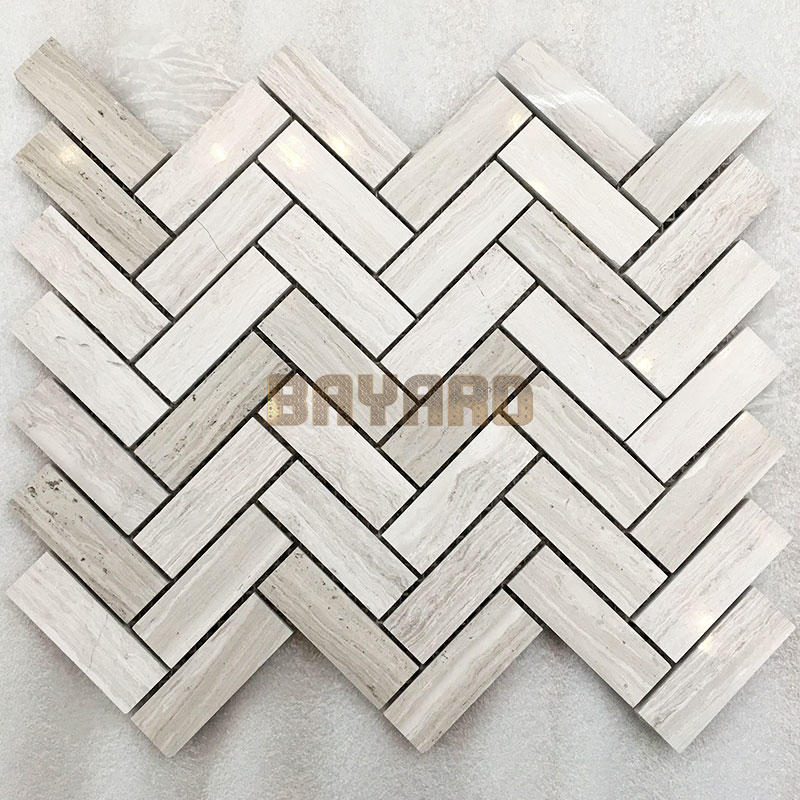 Light grey Line stone marble mosaic tiles light grey mosaic tiles marble natural stone mosaic wall tile