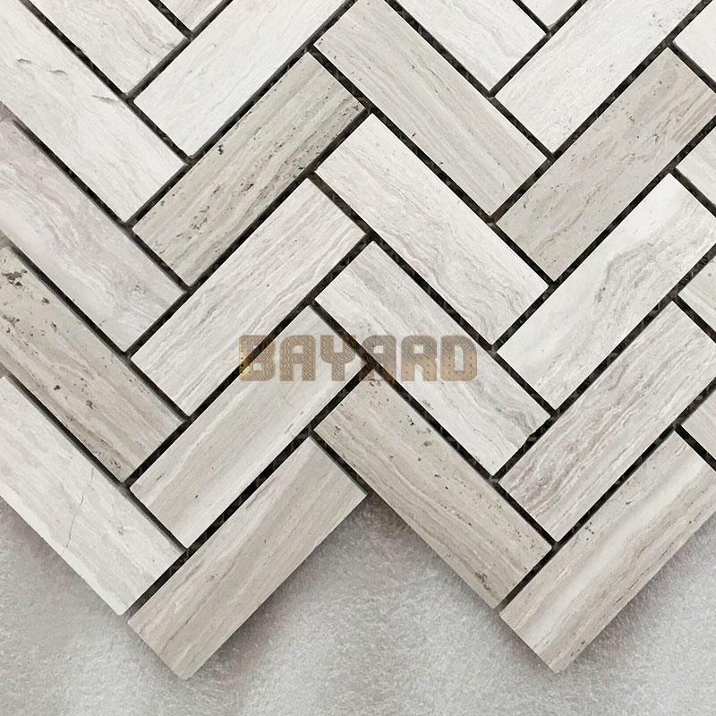 Light grey Line stone marble mosaic tiles light grey mosaic tiles marble natural stone mosaic wall tile