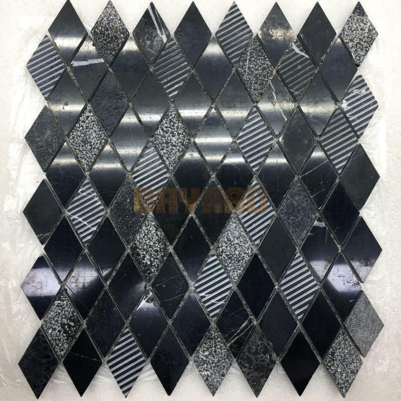 Marquina marble mosaic tiles Black Mosaic Wall Tiles black marble mosaic tile stone by stone mosaic tiles