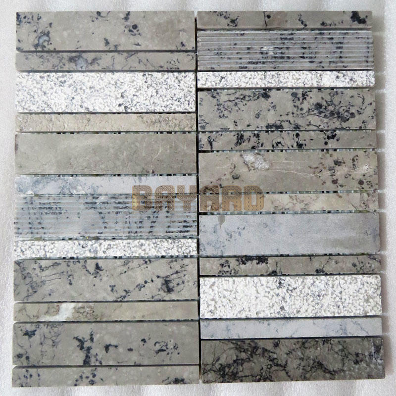 Marble stone mosaic tiles natural stone mosaic wall tile linear mosaic wall tile decorative mosaic tiles tile stone mosaics