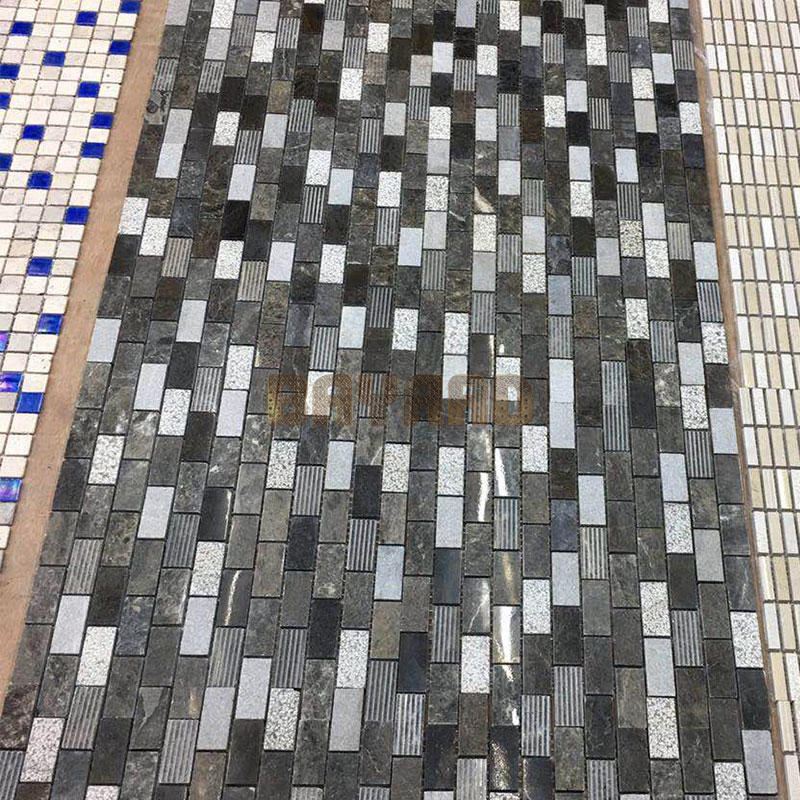 Mosaic tile sheets Dark Emperador marble mosaic tiles outdoor mosaic tiles