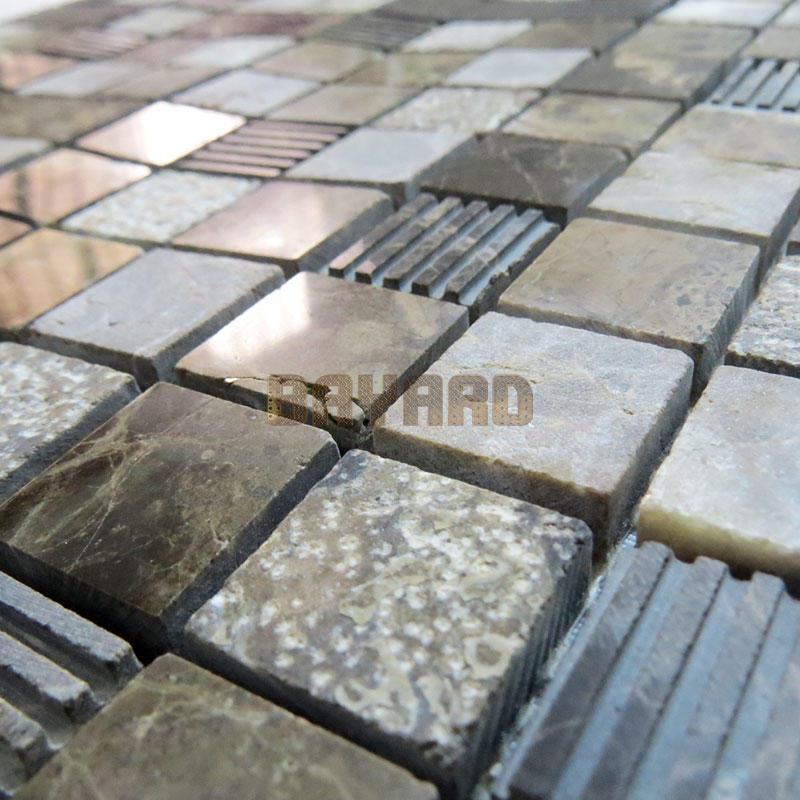 Dark Emperador marble mosaic tiles premium mosaics tile company AM302KT