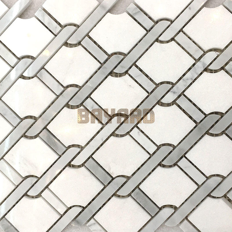 White marble mosaic tiles marble mosaic floor tile marble glass mosaic tile