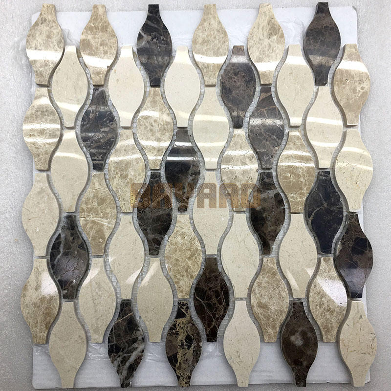 Many colours stone mosaic tiles mosaic tile supplies brown mosaic floor tile