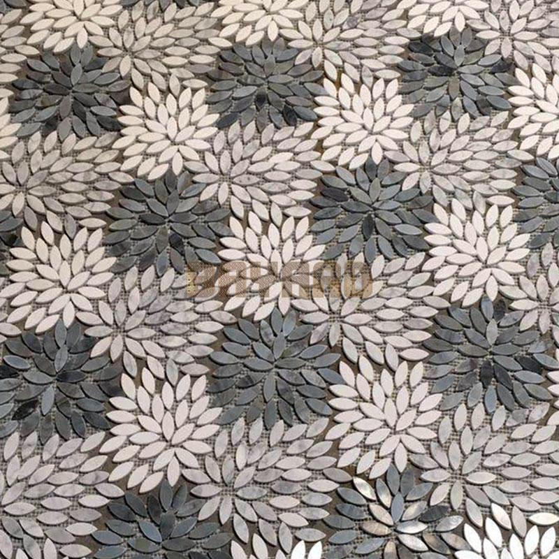 Italy Green flower marble stone mosaic tiles mosaic kitchen wall tiles gray mosaic tile backsplash blue mosaic wall tiles