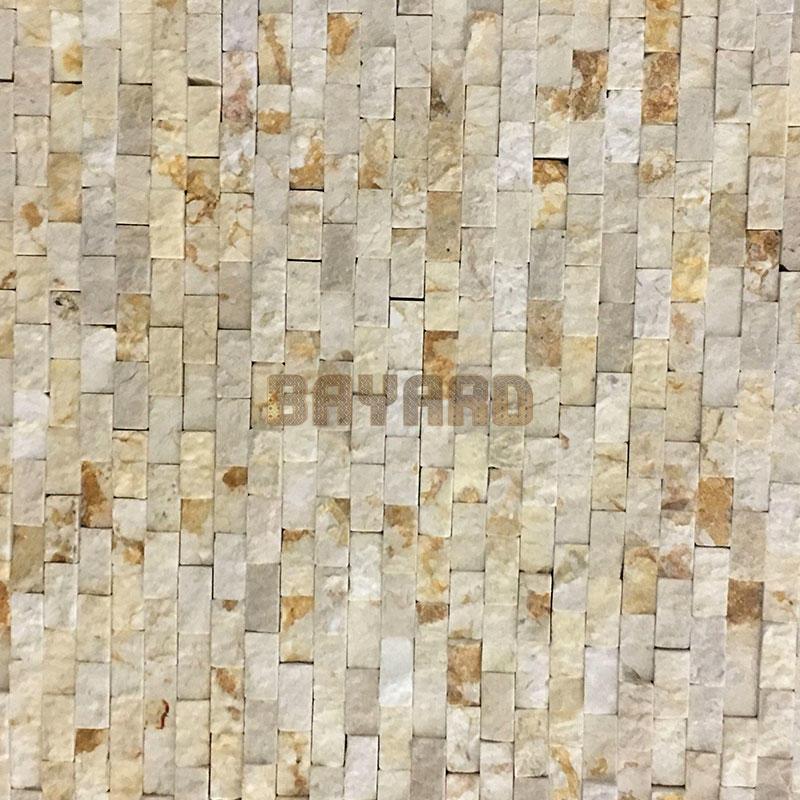 Beige stone mosaic tiles patterned mosaic tiles mosaic wall sandstone mosaic tiles