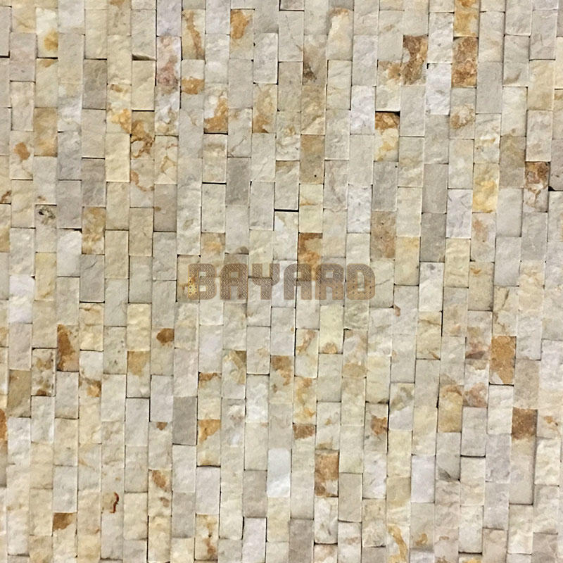 Beige stone mosaic tiles patterned mosaic tiles mosaic wall sandstone mosaic tiles