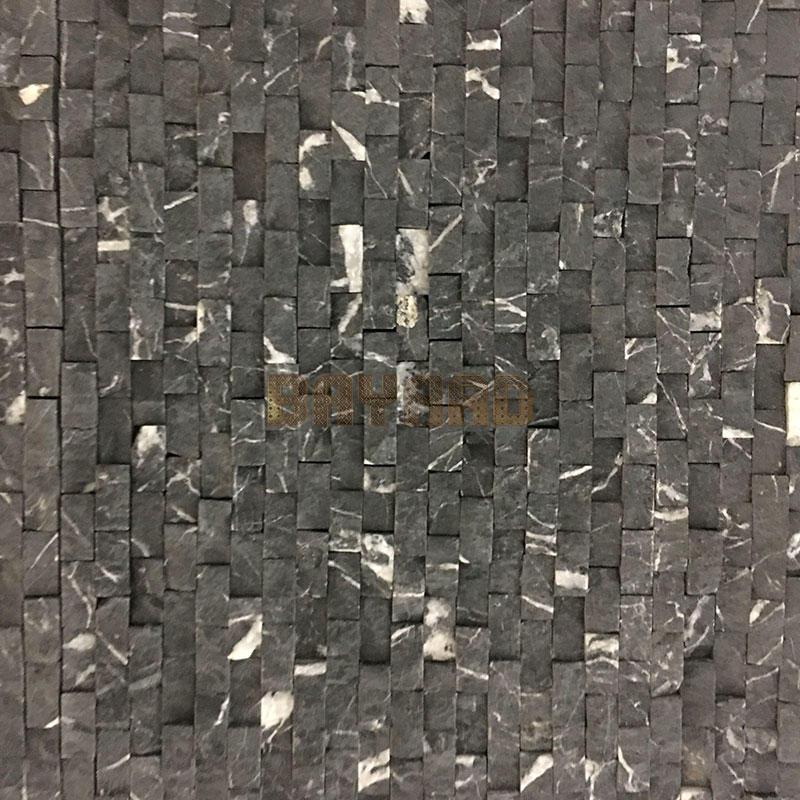 Black mosaic tile backsplash mosaic ceramic tile patterns AM308ZP