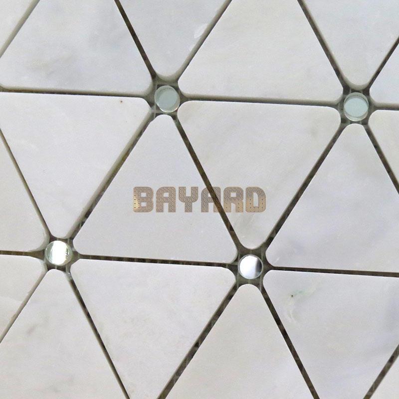 White stone mosaic mix glass tiles mosaic tile kitchen backsplash mosaic pattern floor tiles