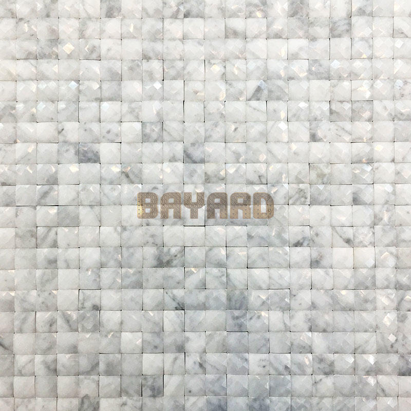Blink faces Square chips white stone mosaic tiles mosaic backsplash stone mosaic tile backsplash
