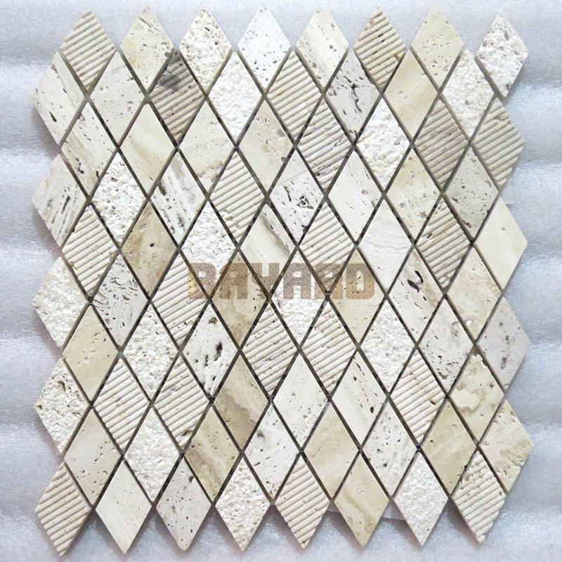 Beige stone mosaic tiles travertine brick mosaic wall tile travertine mosaic tile backsplash travertine mosaic wall tile