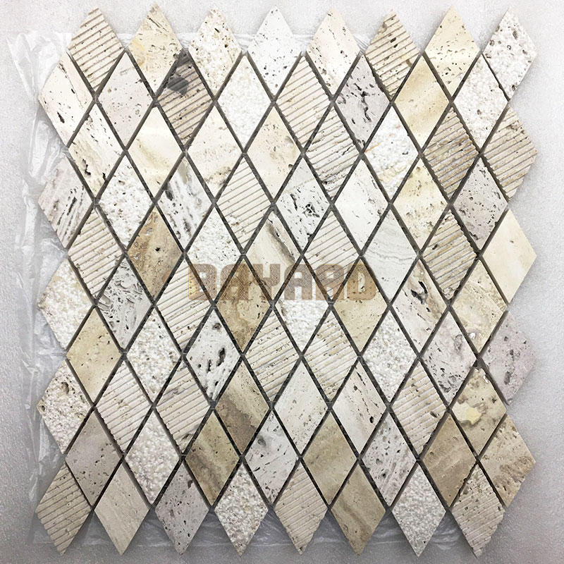Beige stone mosaic tiles travertine brick mosaic wall tile travertine mosaic tile backsplash travertine mosaic wall tile