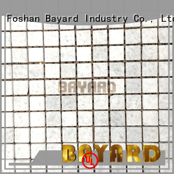 Bayard glass blue mosaic floor tile overseas market for hotel lobby