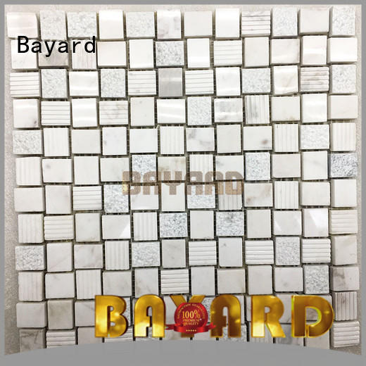 Bayard low cost black and silver mosaic tiles supplier for bathroom