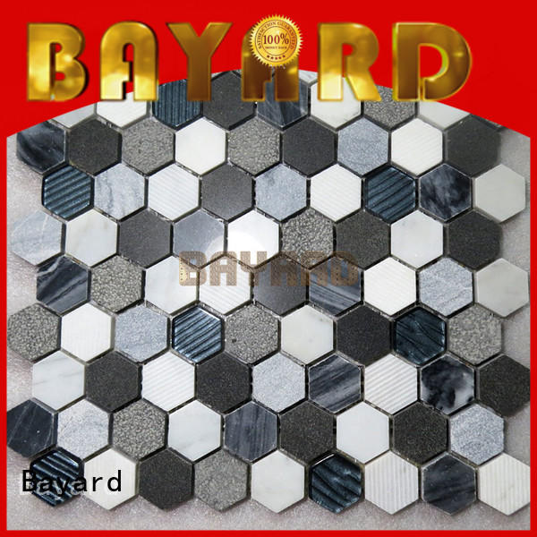 Bayard antislip marble mosaic tile vendor for TV wall