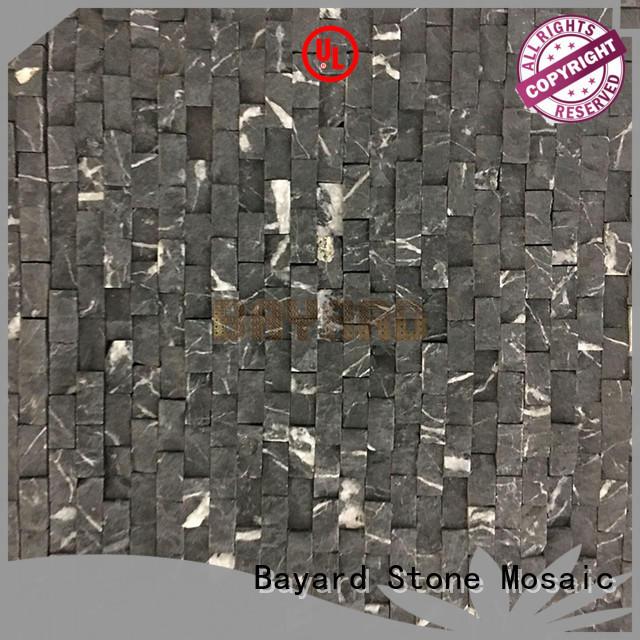 Bayard black gray mosaic floor tile order now for hotel lobby