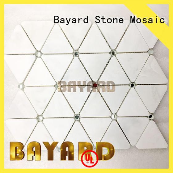 Bayard hexagan decorative mosaic tiles factory price for hotel lobby