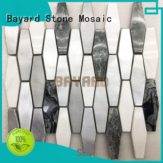 Bayard glossy mosaic bathroom wall tiles for wholesale for hotel lobby