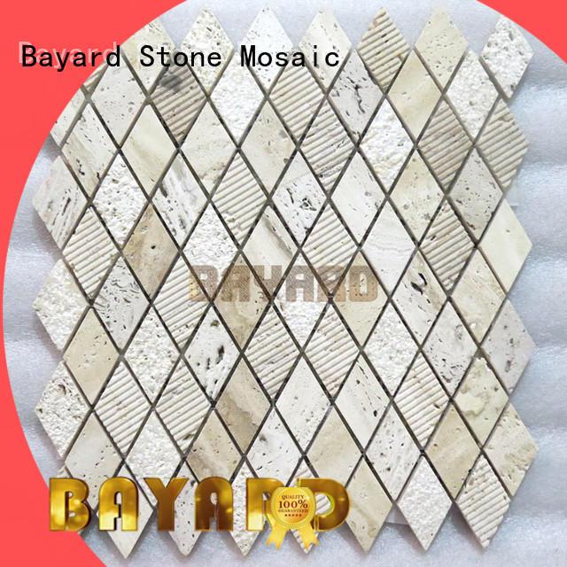 Bayard travertine glass mosaic floor tile newly for decoration