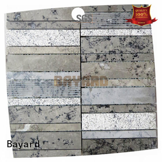 grey mosaic flooring stone for TV wall Bayard