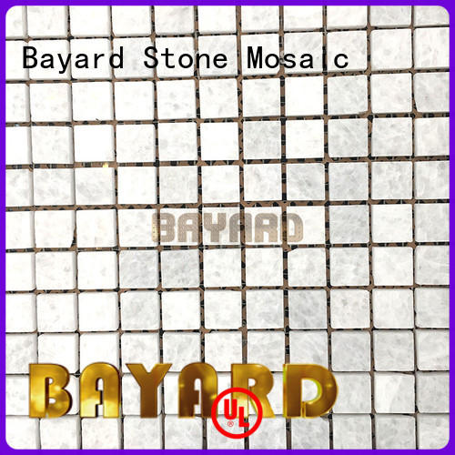Bayard square blue mosaic floor tile supplier for hotel lobby