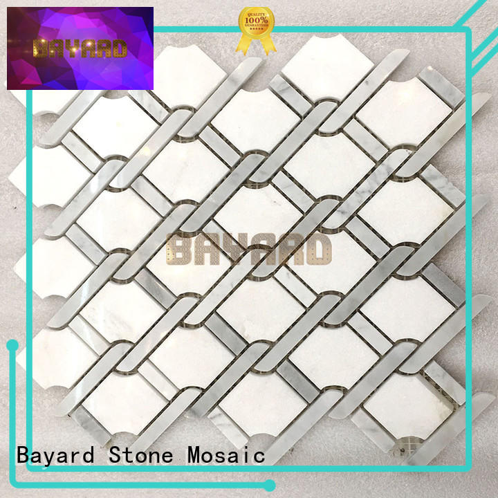 mysterious mosaic bathroom wall tiles metal supplier for hotel lobby