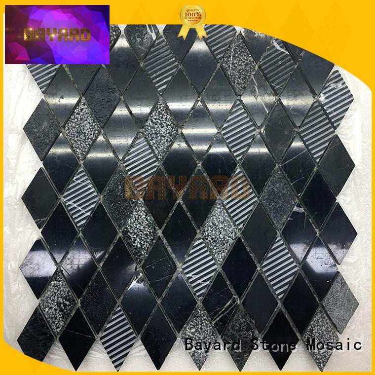 elegant marble mosaics black for hotel