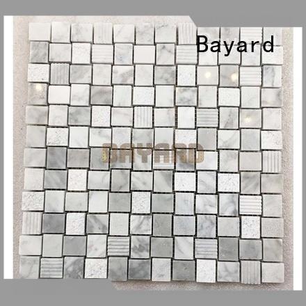 Bayard marfil stone mosaic supplier for TV wall