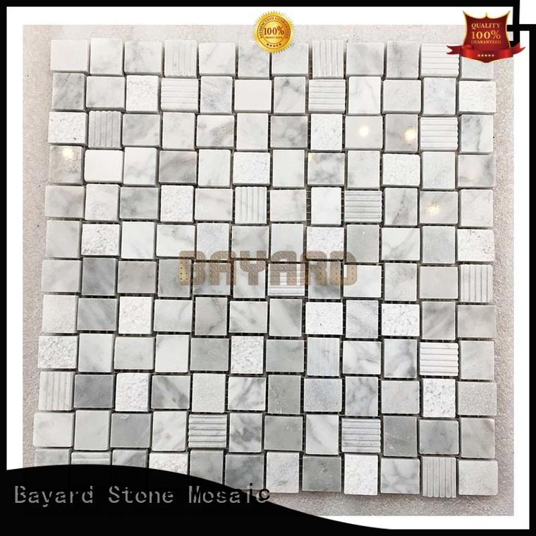 crema mosaic floor tiles marble for TV wall Bayard