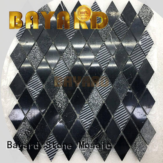 Bayard dark mosaic flooring factory for TV wall