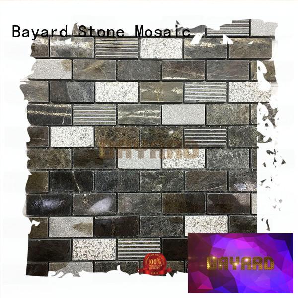 Bayard crema mosaic bathroom floor tile supplier for swimming pool
