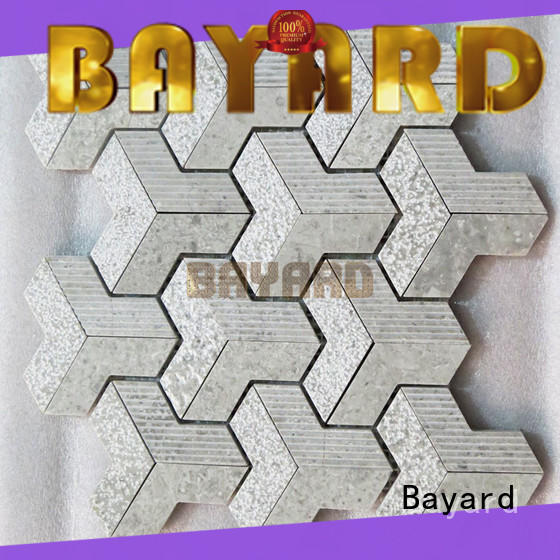 Bayard chips gray mosaic tile factory price for wall decoration