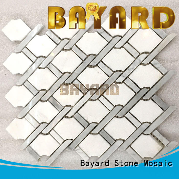 Bayard high-end stone mosaic tile sheets colours for foundation