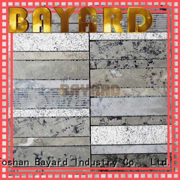 Bayard crema mosaic pattern floor tiles newly for supermarket