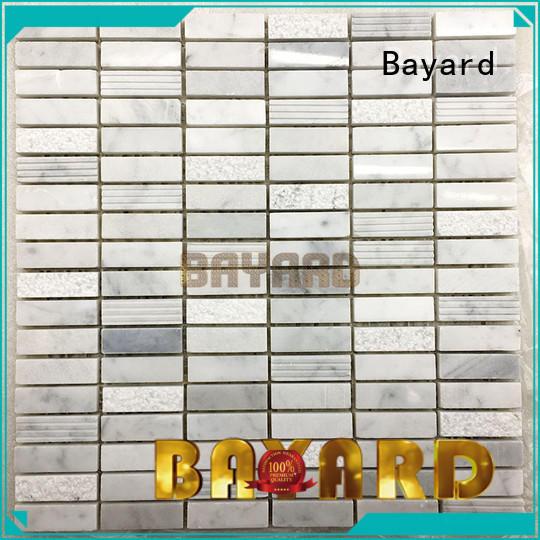 Bayard marquina mosaic bathroom floor tile for wholesale