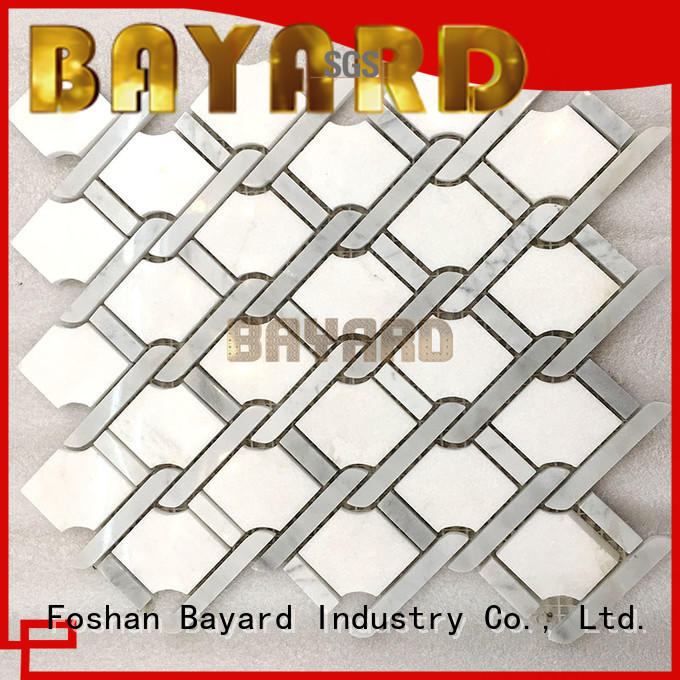 Bayard marble mosaic tile splashback for foundation