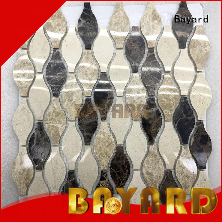 Bayard marble mosaic kitchen floor tiles for wholesale