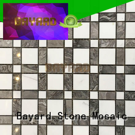 mixed mosaic tile backsplash