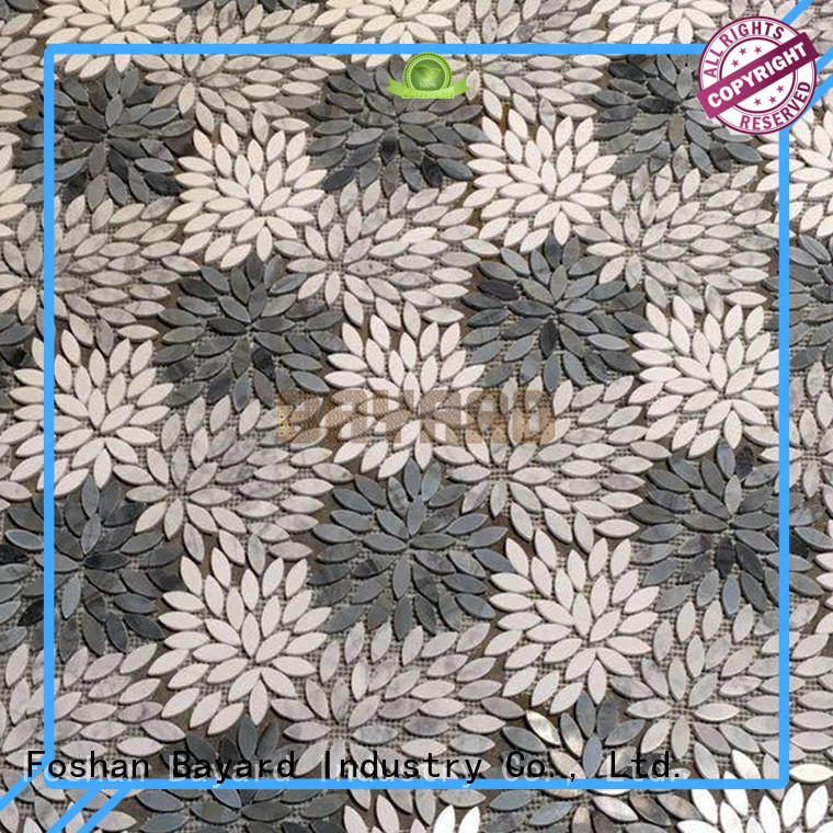 Bayard glossy glass and stone mosaic tile factory price for bathroom
