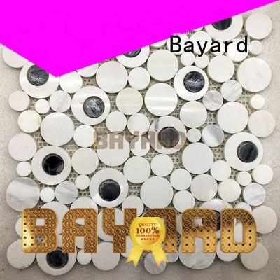 Bayard upscale green mosaic wall tiles white for bathroom