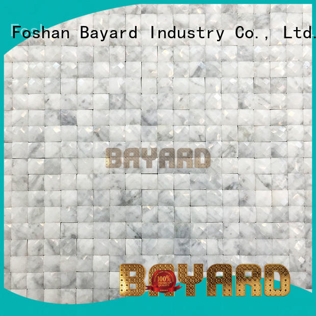 Bayard glass glass mosaic wall tiles in different shapes for foundation