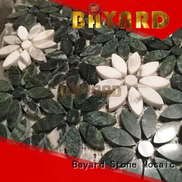 Bayard glossy grey mosaic floor tiles supplier for foundation