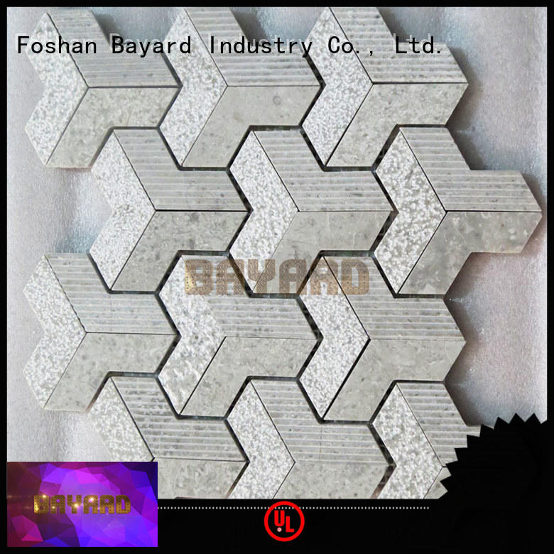 Bayard fashion design glass and stone mosaic tile for wholesale for hotel lobby