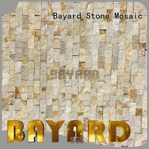Bayard ceramic natural stone mosaic tiles in different shapes for bathroom