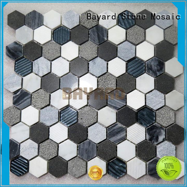 beige mosaic wall tiles supplier for supermarket Bayard