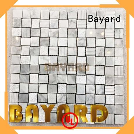 Bayard marfil stone mosaic for wholesale for TV wall