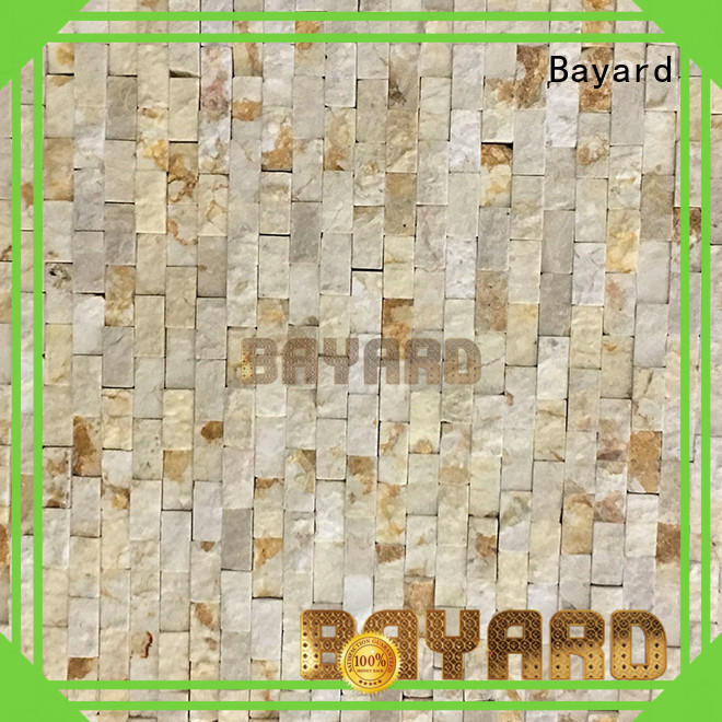 Bayard stone black marble mosaic tile for wall decoration