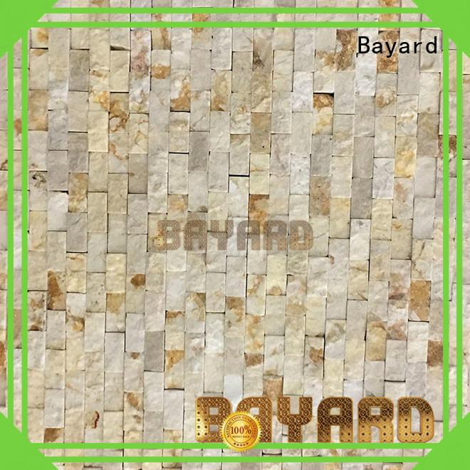 Bayard stone black marble mosaic tile for wall decoration